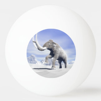 Mammoth in the wind ping pong ball