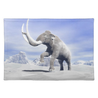 Mammoth in the wind place mats