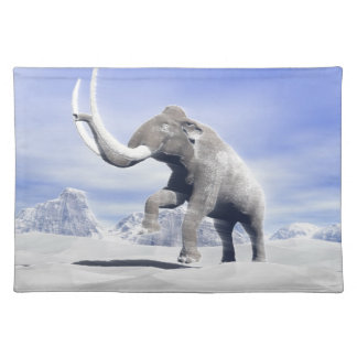 Mammoth in the wind placemat