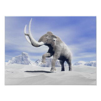Mammoth in the wind poster