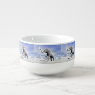 Mammoth in the wind soup mug