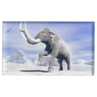 Mammoth in the wind table card holders