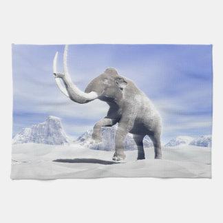 Mammoth in the wind tea towel