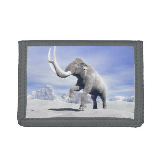 Mammoth in the wind trifold wallets