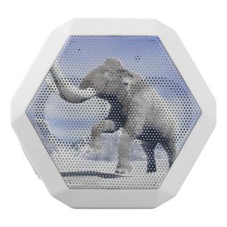 Mammoth in the wind white bluetooth speaker