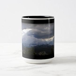 Mammoth Lakes MInarets View Two-Tone Coffee Mug