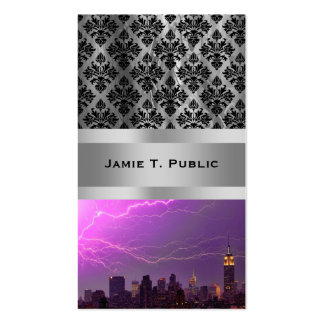 Mammoth Lightning Strike On Midtown NYC Skyline #2 Pack Of Standard Business Cards