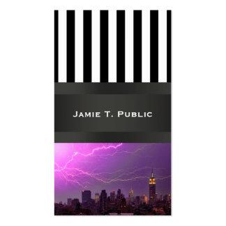 Mammoth Lightning Strike Over Midtown NYC Skyline Pack Of Standard Business Cards