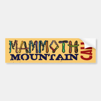 Mammoth Mountain Cali snowboard bumpersticker Bumper Sticker