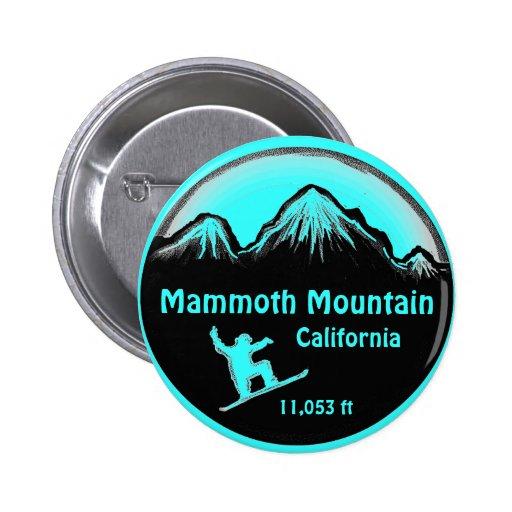 Mammoth Mountain California snowboard art button