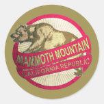 Mammoth Mountain California vintage bear stickers