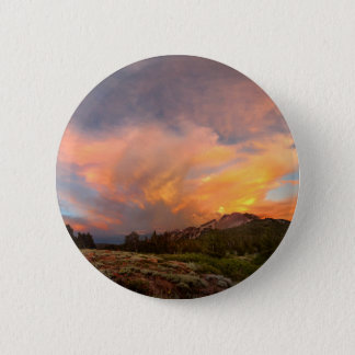 Mammoth Mountain Sunset from Minaret Summit 6 Cm Round Badge