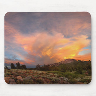 Mammoth Mountain Sunset from Minaret Summit Mouse Pad