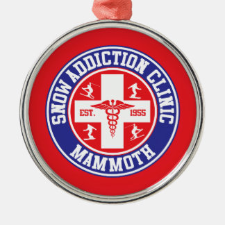 Mammoth Mtn Snow Addiction Clinic Metal Ornament