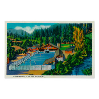 Mammoth Pool at Sol Duc Hot Springs Poster