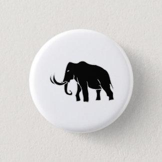 Mammoth Silhouette 3 Cm Round Badge