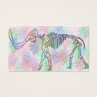 Mammoth skeleton watercolour business card