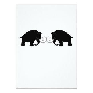 Mammoths Birthday 11 Cm X 16 Cm Invitation Card