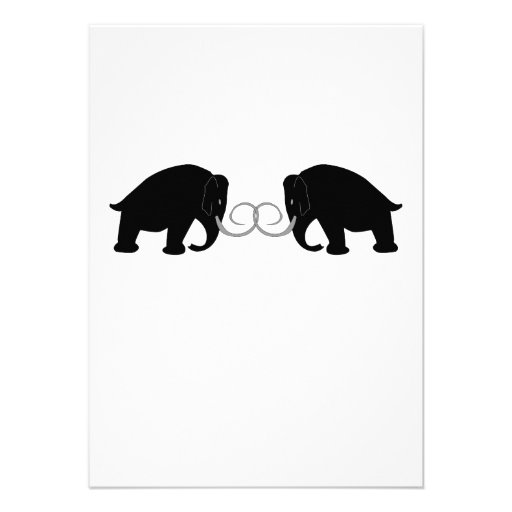 Mammoths Birthday Custom Invitation