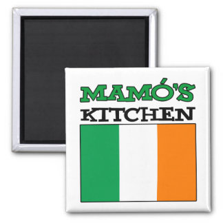Mamo's Kitchen With Flag Of Ireland Magnet