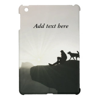 Man and Dog Bond on the Mountain Case For The iPad Mini