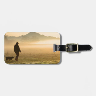 Man and Dog Mountain Mist Luggage Tag