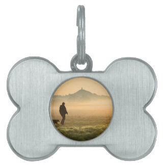 Man and Dog Mountain Mist Pet Tag