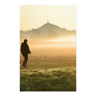 Man and Dog Mountain Mist Stationery