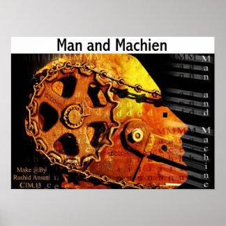 Man and Machien Poster