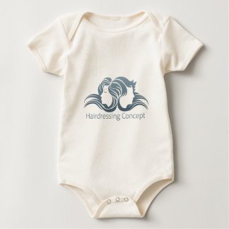 Man and Woman Hair Concept Baby Bodysuit