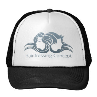 Man and Woman Hair Concept Cap