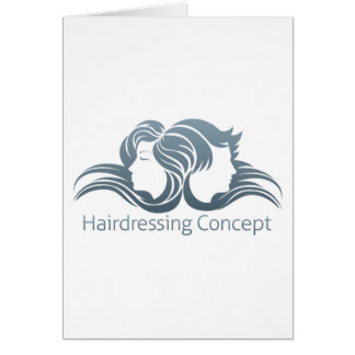 Man and Woman Hair Concept Greeting Card