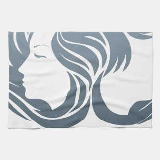 Man and Woman Hair Concept Hand Towel