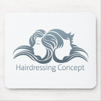 Man and Woman Hair Concept Mouse Pad