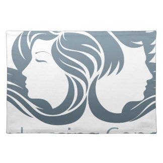 Man and Woman Hair Concept Place Mats