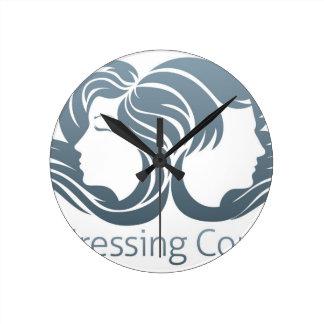 Man and Woman Hair Concept Wall Clock