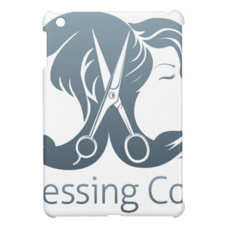 Man and woman hairdresser scissors concept iPad mini cover