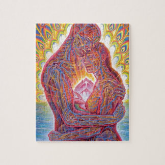 Man and woman jigsaw puzzle