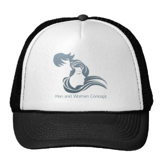 Man and Woman Profile Concept Cap