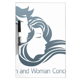Man and Woman Profile Concept Dry-Erase Whiteboards