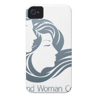 Man and Woman Profile Concept iPhone 4 Covers