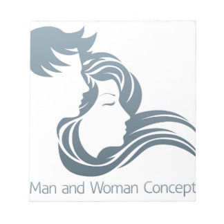 Man and Woman Profile Concept Note Pads