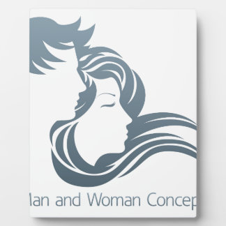 Man and Woman Profile Concept Photo Plaques