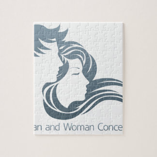 Man and Woman Profile Concept Puzzles
