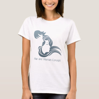 Man and Woman Profile Concept T-Shirt