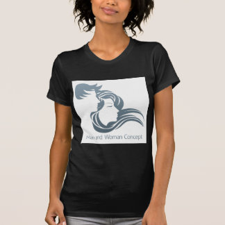 Man and Woman Profile Concept Tshirt