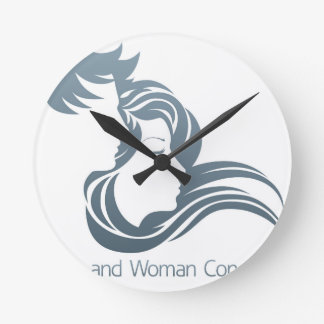 Man and Woman Profile Concept Wallclocks