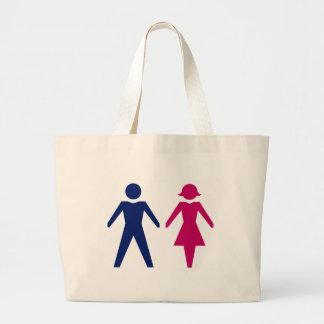 Man And Woman Jumbo Tote Bag