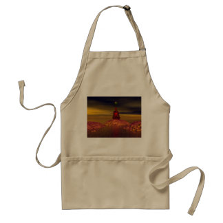 man and world and mountains standard apron