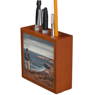 Man at Highs Contemplating The Landscape Desk Organiser